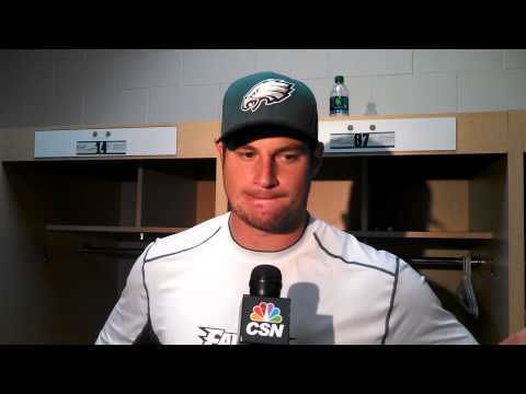 Video interview with Eagles tight end Brent Celek