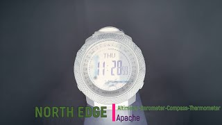 North Edge Apache - Altimeter Barometer Compass Thermometer Watch- Video unboxing, tutorial & review