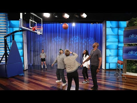 Ellen Plays 2-on-2 Basketball with Kobe Bryant, Ice Cube, and an NCAA Champ