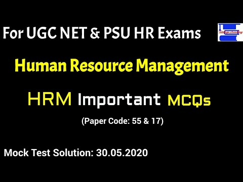 HRM Important MCQs Mock Test solution||Human Resource ...