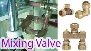 Installation of mixing valve (anti-sweat valve) for toilet to stop condensation on the toilet tank