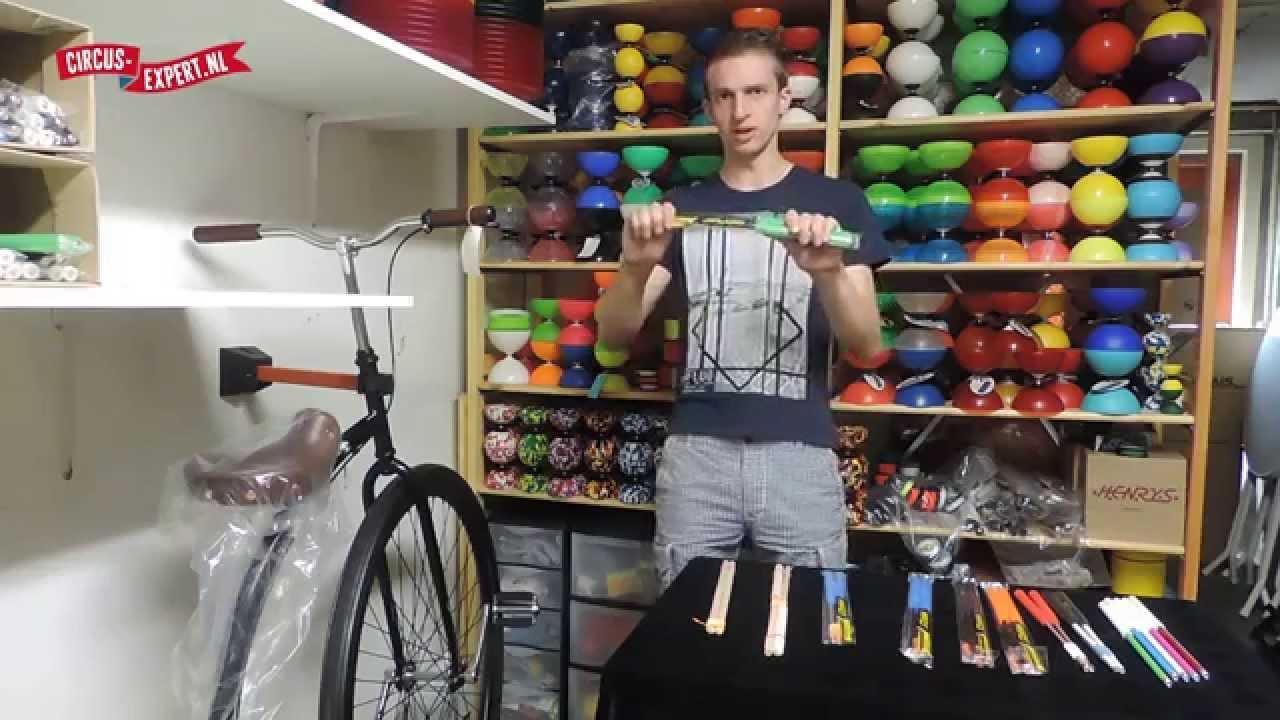 product video Henrys Aluminium Diabolostokken 32,5 cm