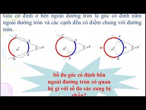 Toán 9: Góc có đỉnh ở bên trong đường tròn - Góc có đỉnh ở bên ngoài đường tròn