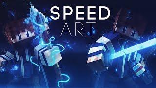 [13] Minecraft   Banner Speed Art : New C4D Minecraft Rig!!!