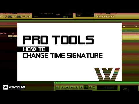 Pro Tools: How To Change Time Signature | WinkSound