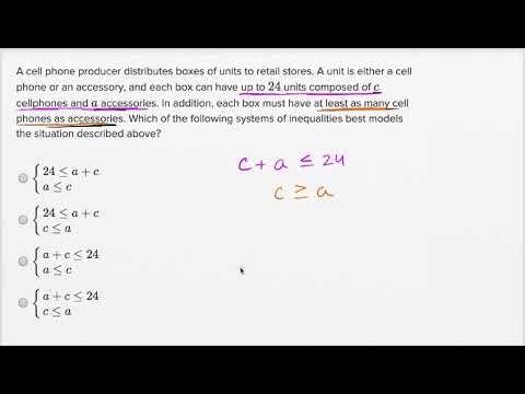 Systems of linear inequalities word problems — Harder