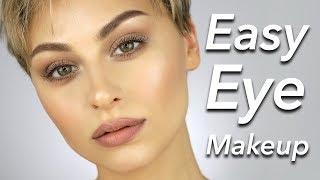 Easy Eye makeup Tutorial for Beginners No Eyeliner | Alexandra Anele