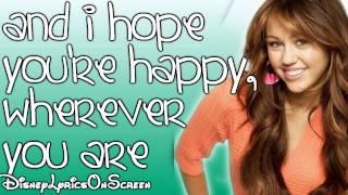 Miley Cyrus - I Hope You Find It (Lyrics On Screen) HD