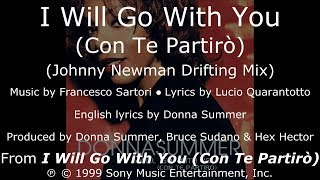 """Donna Summer - I Will Go with You (Johnny Newman Drifting Mix) LYRICS - SHM """"I Will Go with You"""""""