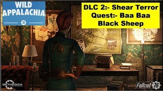 Fallout 76 Shear Terror DLC - Baa Baa Black Sheep - Find all clues in Park - Find Wolf