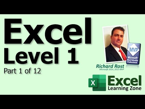 Microsoft Excel Tutorial - Part 01 of 12 - Excel Interface 1 - YouTube