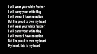 Lyrics from: Marillion ~ White Feather (from the album Misplaced Childhood)