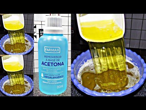 Sabão líquido de Acetona