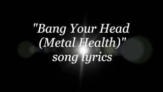 quiet riot~bang your head