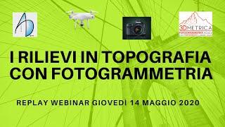 Topografia, fotogrammetria e aerofotogrammetria da drone (maggio 2020)