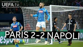PARIS 2-2 NAPOLI #UCL HIGHLIGHTS
