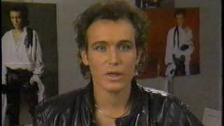 Adam Ant discusses making Strip video