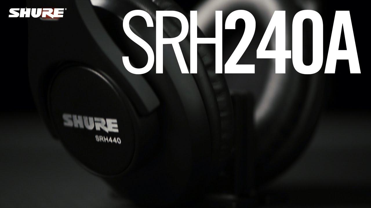 Shure SRH240A Professioneller Kopfhörer für den Einstieg