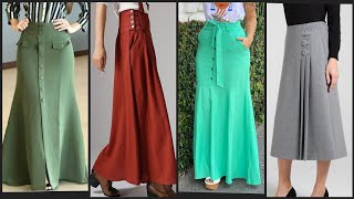 50 + Most Stylish  Simple Spring Style With Linen Skirt/Long Skirt/ Printed & Stylish Skirts Design