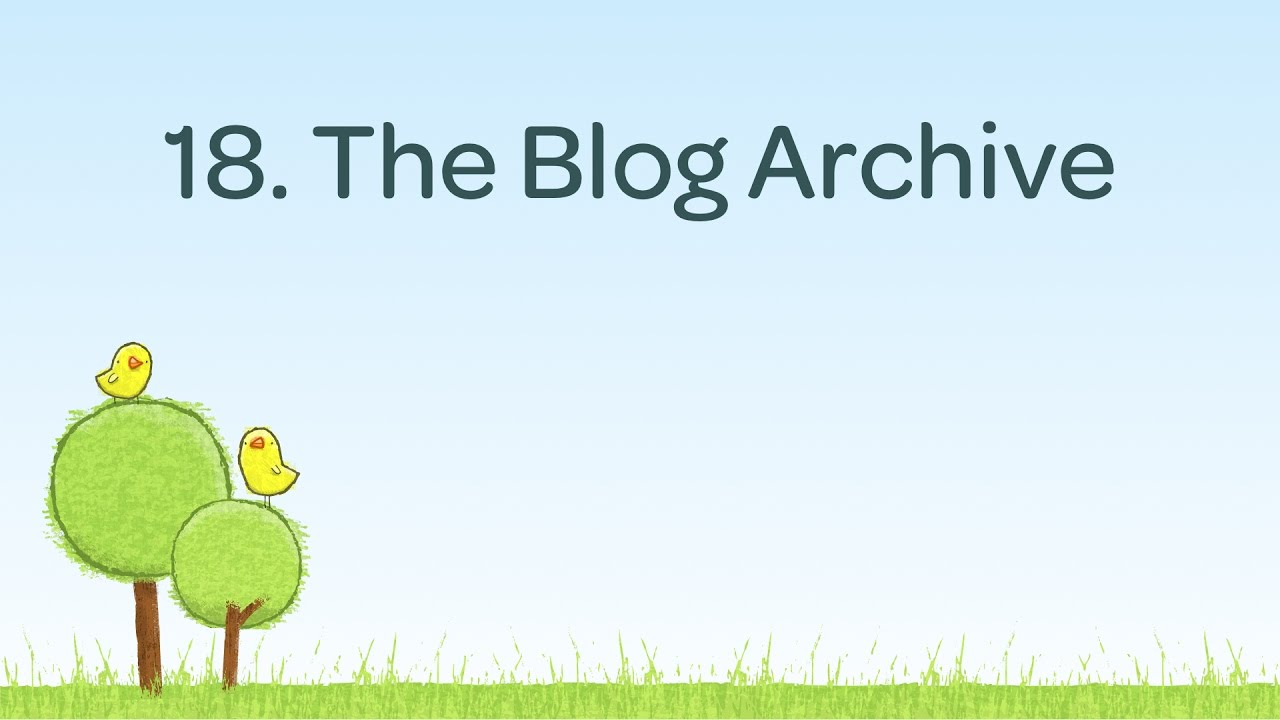 Create a Blog Archive page