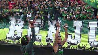 Sambutan Bonek Dibalas Hangat Bobotoh Viking Di Stadion GBT Surabaya | Persebaya Vs Persib