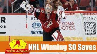 NHL Game Winning Shootout Saves