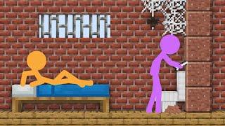 Stickman in Minecraft: PRISON ESCAPE - AVM Shorts Animation