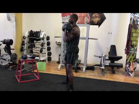 Dumbbell Supinated Grip Front Squat
