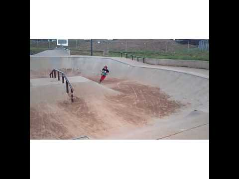 Epic fails and epic tricks show low skate park