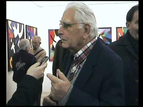 Lantos Ferenc képzőművész 80. születésnapja alkalmából rendezett kiállítás a Pécsi Galériában, Sufni TV, Pécs, 2009