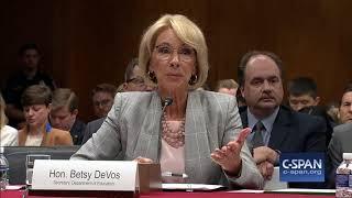 Exchange between Sen. Leahy & Secretary DeVos on Gun Violence (C-SPAN)