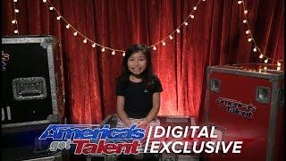 Gambar cover Singer Celine Tam Relives Her First AGT Performance - America's Got Talent 2017