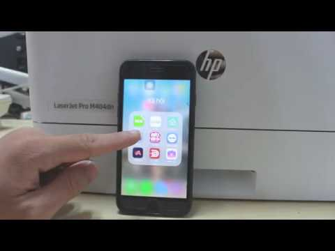 In từ Smart phone nhanh chóng dễ dàng với HP M404dn