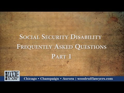 Jon Walker Discusses the Three Most Frequent Social Security Disability Questions