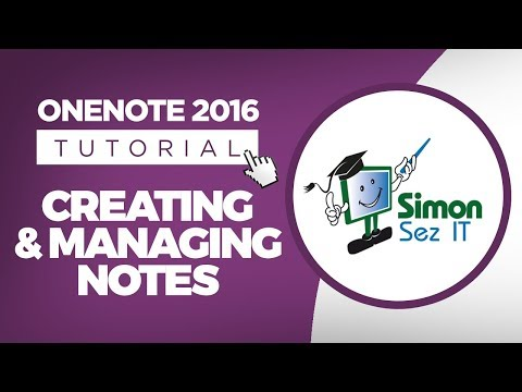 Microsoft OneNote 2016 Tutorial for Beginners - Create and Manage Notes
