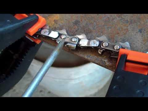 Как укоротить цепь бензопилы
