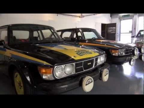 The SAAB 99's at the SAAB Car Museum