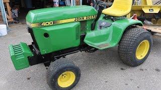 John Deere 400 Garden Tractor Front Suitcase Weight Bracket Build