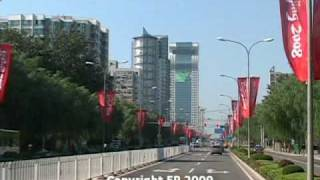 Video : China : BeiJing 北京 window view : Capital Airport to Olympic Park