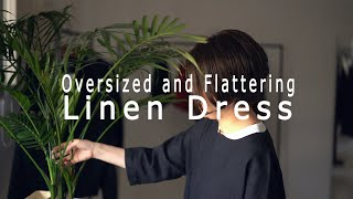 Oversized And Flattering Linen Dress  - Wafu Linen Clothing -
