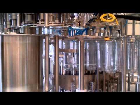 Youtube video of rinser, gravity filler & capper 32.32.8