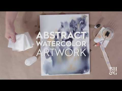 Swirling Watercolor Artwork | Made By Me Home | Better Homes & Gardens