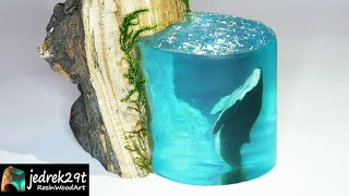 Whale in Resin. Diorama / RESIN ART