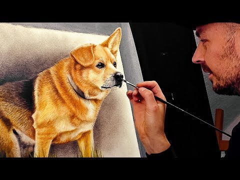 3d painting of a dog by stefan pabst