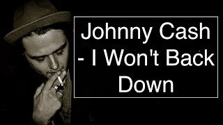 Johnny Cash   I Won't Back Down [Guitar TutoLessonCover With CHORDS]