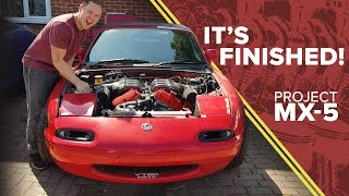 Finishing The Sublime MX-5 V6 Conversion & First Exhaust Noise