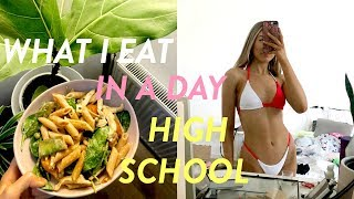 WHAT I EAT IN A DAY AS A HIGH SCHOOL STUDENT! back to school healthy + realistic what I eat