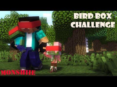 Monster School | Bird Box Horror Challenge | Minecraft Animations