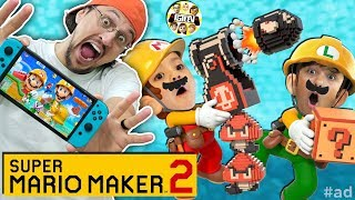 SUPER MARIO MAKER 2!  FGTeeV Shawn makes a Level?? LOL
