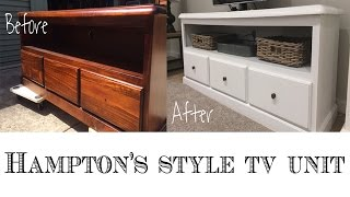 Repurpose An Entertainment Center Or TV Unit : Hamptons Style DIY